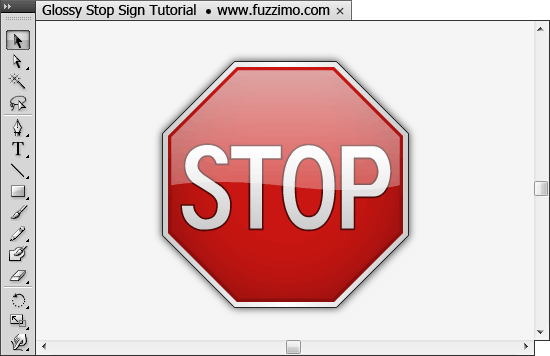 Illustrator Tutorial – Make a Glossy Stop Sign | fuzzimo