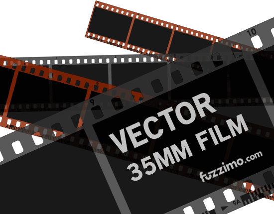 Free Vector 35mm Film Strips Color + B&W | fuzzimo