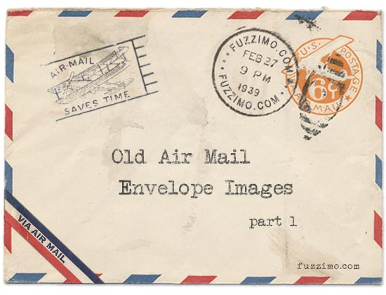 postcard creating envelope vintage