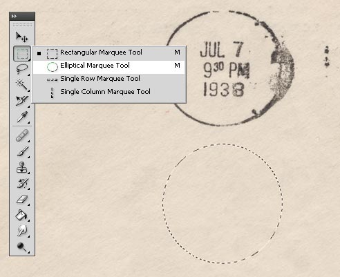 Photoshop Tutorial Old Postmark Stamp 03