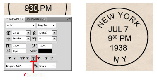Photoshop Tutorial Old Postmark Stamp 15