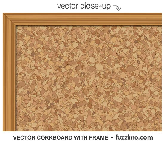 Free Vector Corkboard With Frame Fuzzimo