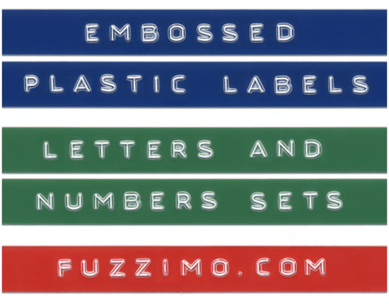 Free Hi Res Embossed Label Letters Numbers